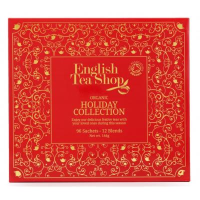 English Tea Shop Luxusní Vánoční kolekce čajů bio papírová kazeta 96 sáčků