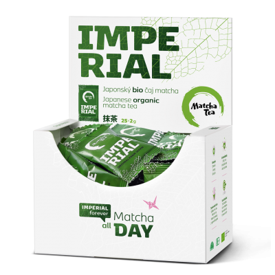 Matcha Tea Imperial 25x2g otevřená krabička