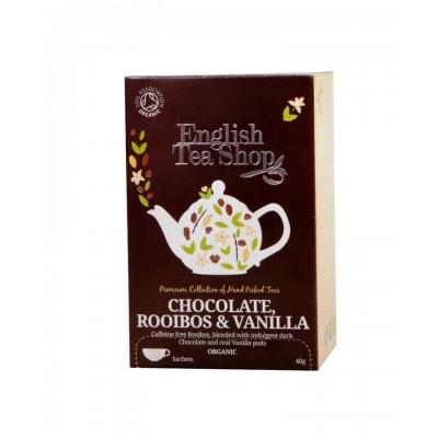 The English Tea Shop čaj čokoláda, rooibos & vanilka 20 sáčků