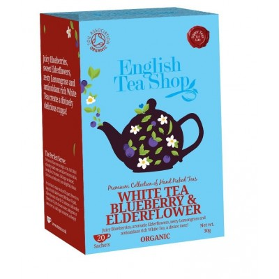 The English Tea Shop Bílý čaj s borůvkou a bezinkou 20 sáčků