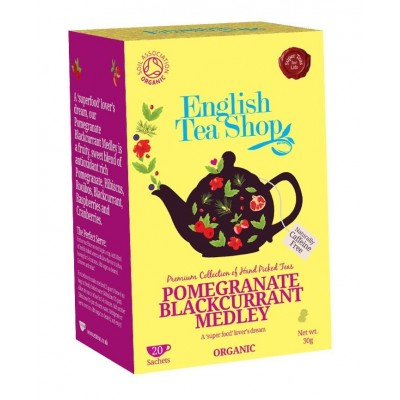 The English Tea Shop čaj Granátové Jablko a Brusinka 20 sáčků