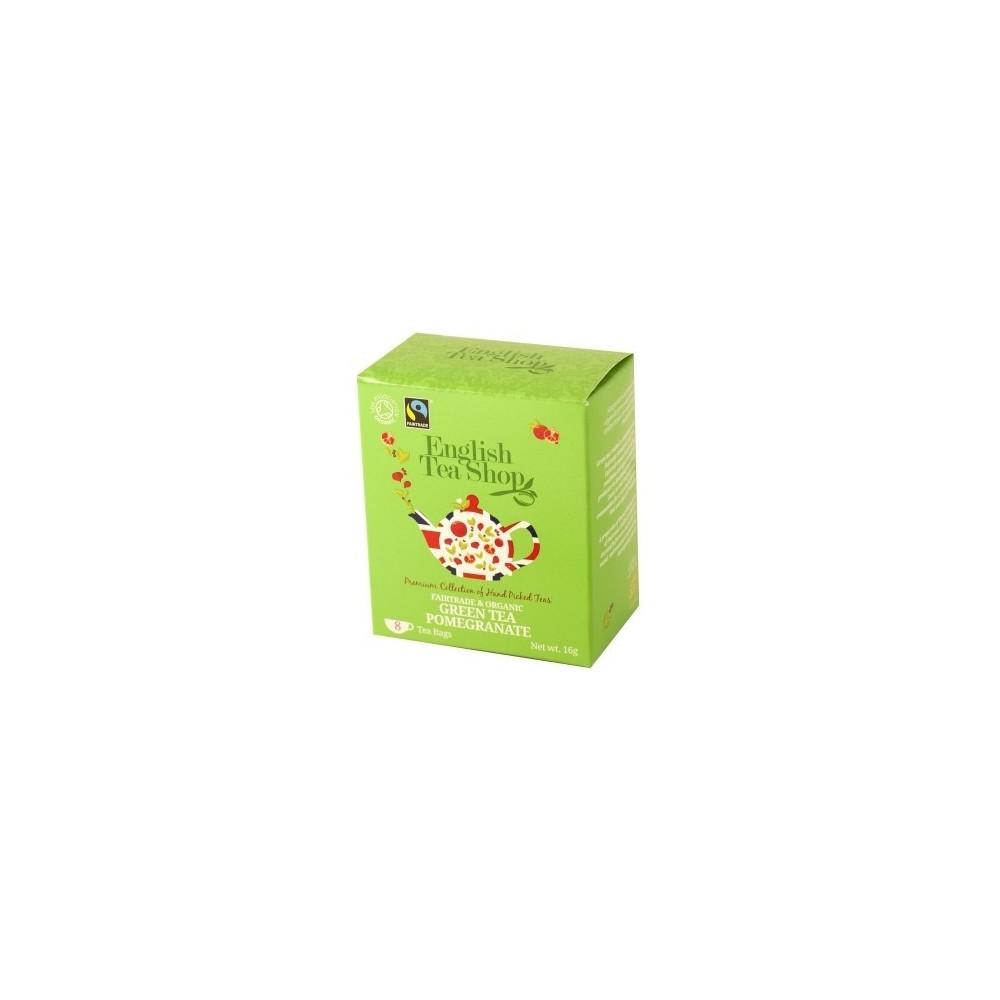 The English Tea Shop Zelený čaj s granátovým jablkem 8 sáčků