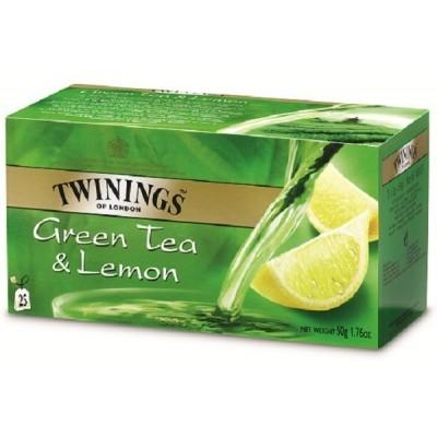 Twinings Green Tea a Lemon 25x2g