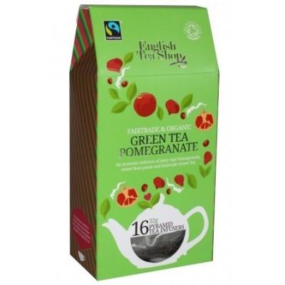 ETS Zelený čaj s granátovým jablkem 16 pyramidek