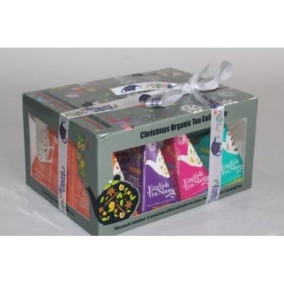 ETS Dárková krabička čajů Vánoční ozboby s 12 pyramidkami