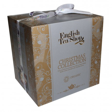 ETS Vánoční kostka ve Viktoriánském stylu zlatá 96 čajů