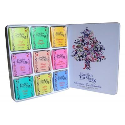 English Tea Shop VÁNOČNÍ STROM kazeta 72 sáčků v plechové kazetě
