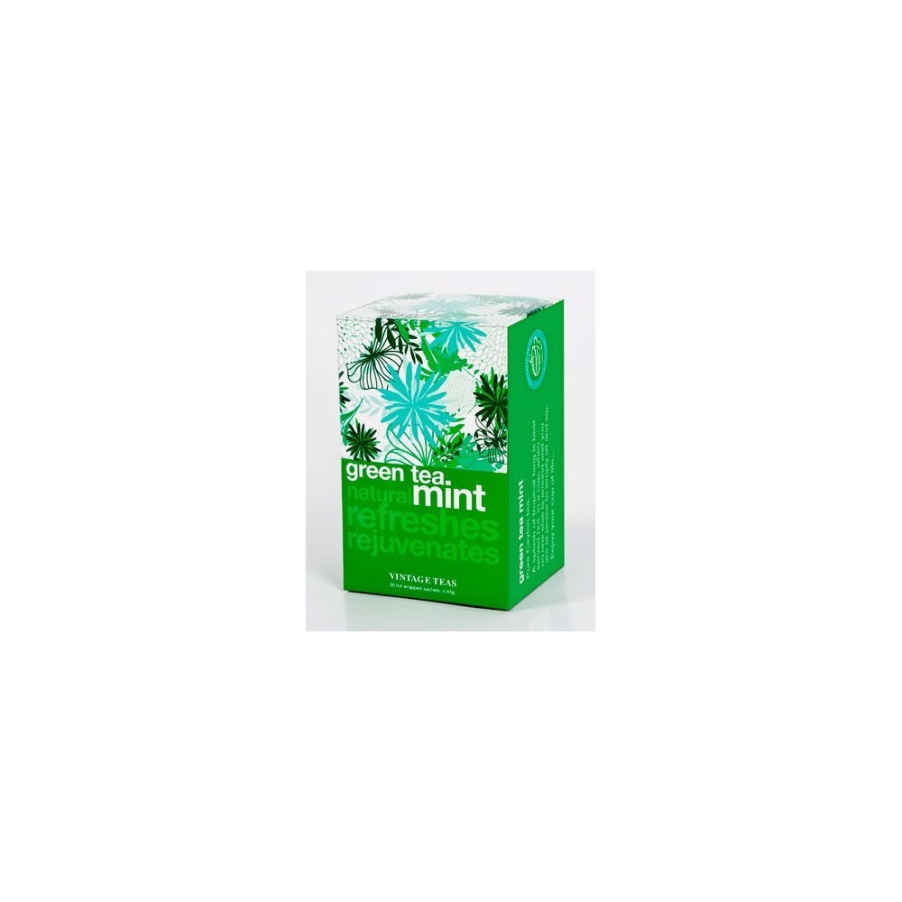 Vintage Teas Zelený čaj s mátou 30 x 1,5 g