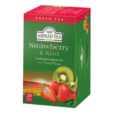Ahmad Tea Green Tea Strawberry a kiwi 20 x 2 g