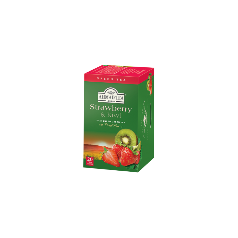 Ahmad Tea Green Tea Strawberry a kiwi 20 x 2 g