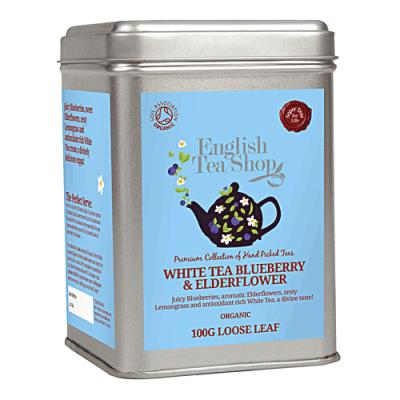 ETS Bílý čaj bezový květ a borůvka, sypaný čaj 100 g