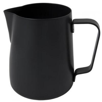 Džezva na zpěnění mléka 0,35 l černá z nerezové oceli