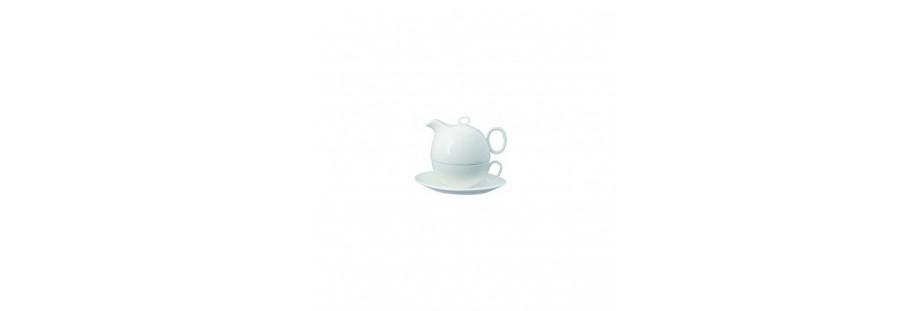 Konvička na čaj se šálkem a hrnek