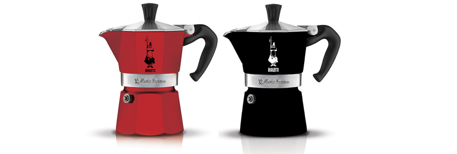 Moka kávovar Express Black & red