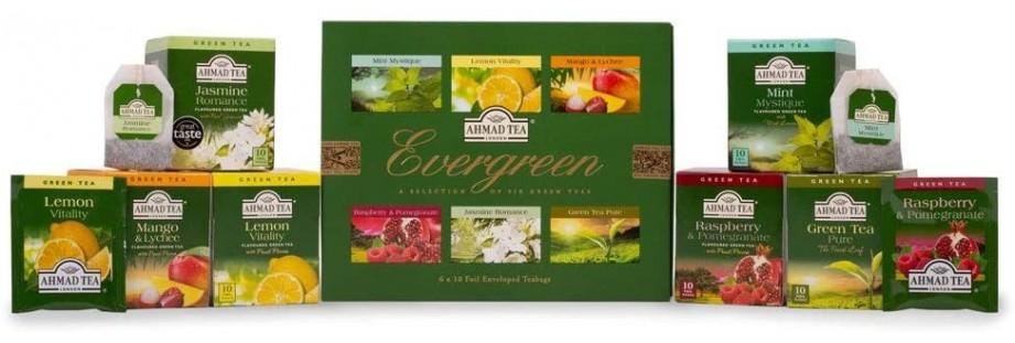 Dárkové kazety plné prémiových čajů Ahmad Tea
