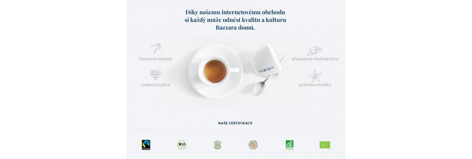 Zrnková italská espresso káva Bazzara